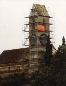 Kirche Ellikon vor der Fassadenrenovation