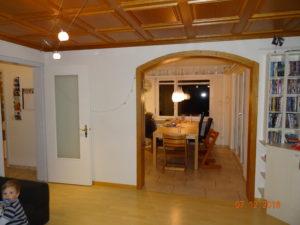 Umbau, Wanddurchbruch Wohnzimmer/Küche