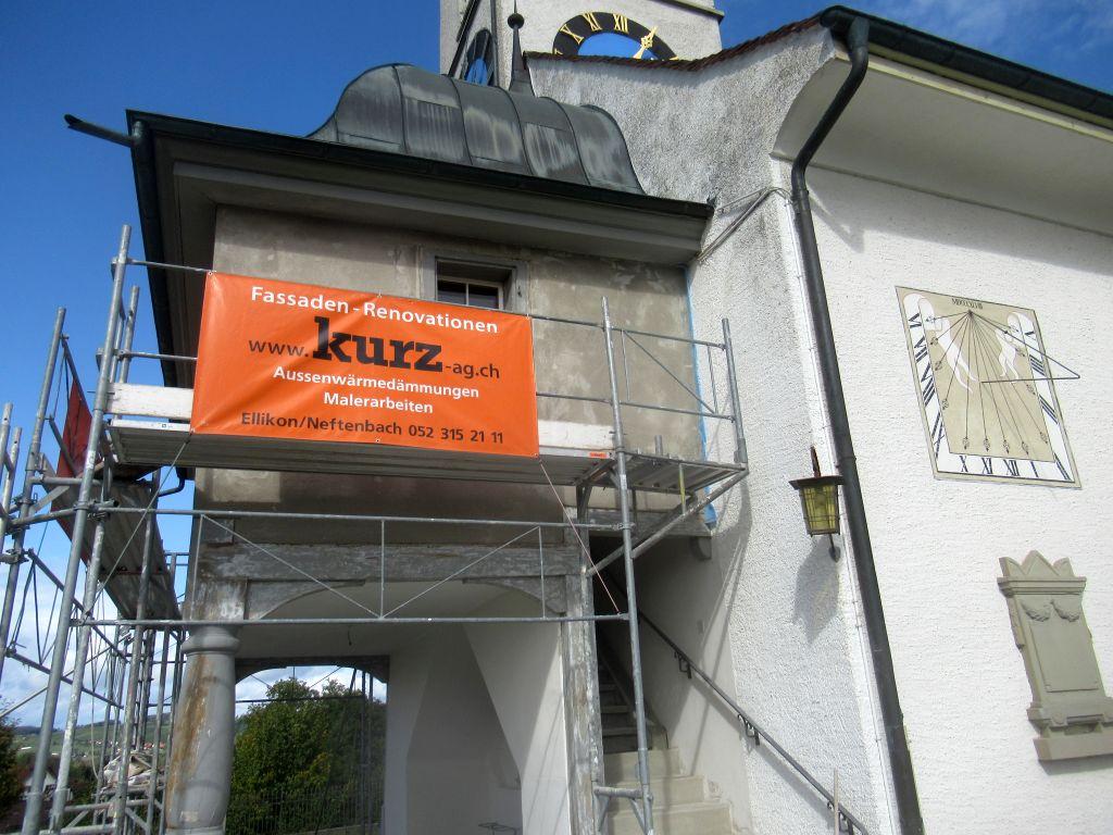 Arbeiten an der Vorkirche in Ellikon