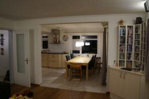 nach dem Umbau/ durchbruch Wohnzimmer Küche